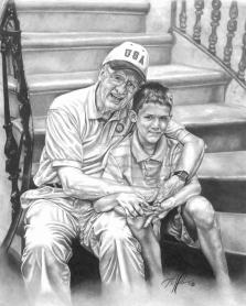 Bill & Austin. 14x17
