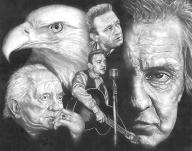 Johnny Cash. 16x20