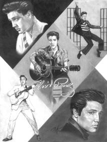 Elvis. 16x20